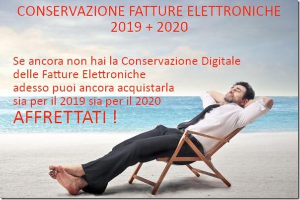 CONSERVAZIONE FATTURE ELETTRONICHE 2019 + 2020